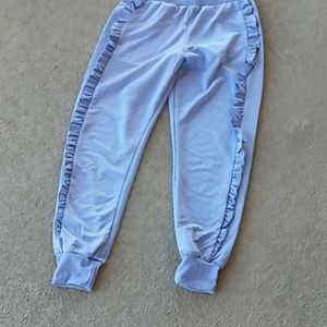 TOP SHOP SWEAT PANTS WITH FRILLS AT SIDES
